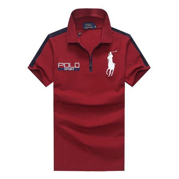 Marque Hommes Polos 2019 Nouvelle Mode Casual Broderie Hommes Vêtements Respirant À Manches Courtes Polos Coton Mélange Taille M-2XL