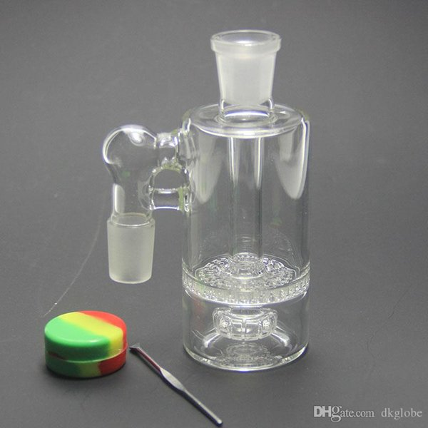 glass ashcatcher smoking accessories including wax oil container dabber tool glass ash catcher 14mm or 18mm joint