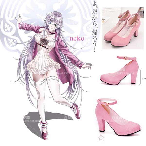 Wild2019 Second K Season Neko Cat Rain Is Elegant Day. Cosplay Pink Colour High-heeled Shoes Will Code Cos Shoe