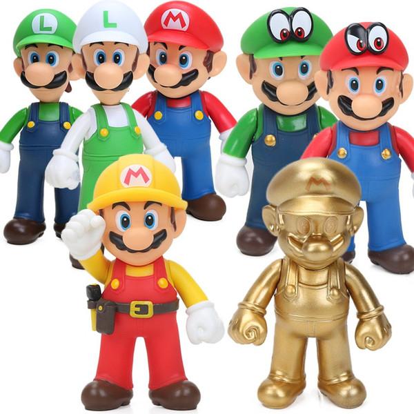 13cm Super Mario Figures Toys Super Mario Bros Bowser Luigi Koopa Yoshi Mario Maker Odyssey PVC Action Figure Model Dolls Toy
