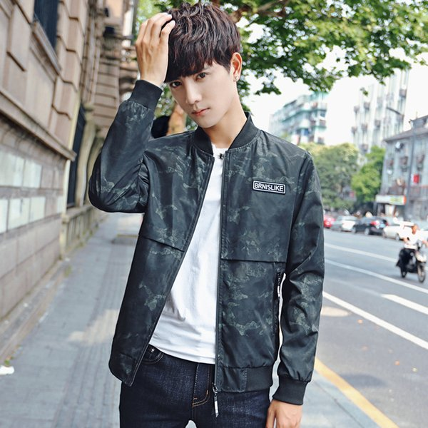 Sexy2019 Loose Coat Spring And Season Pattern Korean Trend Cool Time Handsome Personality Joker Summer Thin Section Jacket