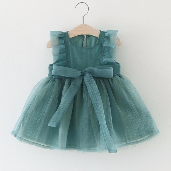 Casual Fashion Baby Girl Dress Infant Girls Summer O-neck Sleeveless Chiffon Dress for Newborns Girls Party Princess Vestidos