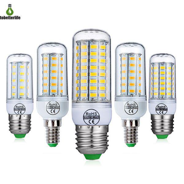 top popular E27 E14 SMD5730 LED Lamp 7W 12W 15W 18W 20W 22W 220V 110V Corn Lights LED Bulbs Chandelier 48 56 69 72 LEDs 2020