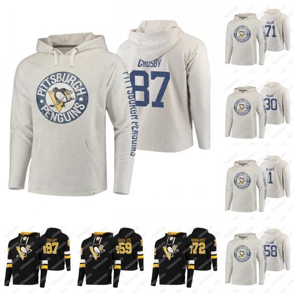 58 Kris Letang Pittsburgh Penguins 2019 Hoodie 87 Sidney Crosby 71 Evgeni Malkin 72 Patric Hornqvist 1 Casey DeSmith 8 Brian Dumoulin Jersey