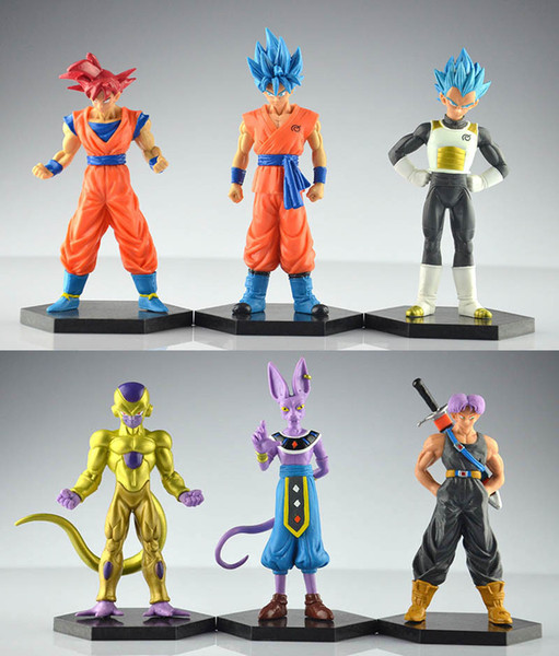 Acheter Top Dragon Ball Z Figurines Dragonball Super Trunks Goku Bleu Dieu Super Saiyan Vegeta Beerus Frieza Dbz Jouets De 18 3 Du Dreamhouse2015