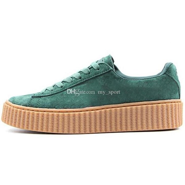 New Arrival Fenty Creeper Rihanna PUMO PUM Basket Platform Velvet Cracked Leather Suede Casual Shoes Men Women Free Drop Shipping Sneakers-a