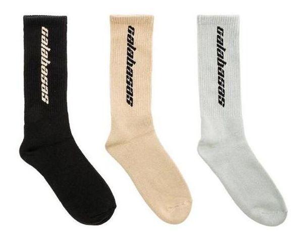 Shoe Parts 3 Colors Calabasas Socks Cotton Kanye West Men Women Socks Casual stockings Skateboard Stockings Unisex