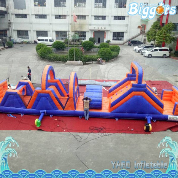 Inflatable Bouncing Castle House Obstacle Course Sports Games For Kids Fun