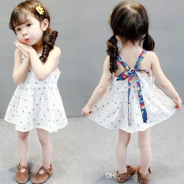 New Girls Longuette cotton Broken flowers Dress Dresses Girl Prom Dresses Summer Princess Dress best quality 4-21 lw05