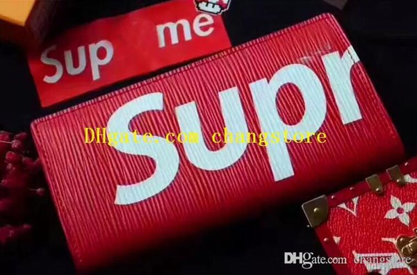 designer luxury handbags purses designer wallet square long wave supre men suit wallet fashion street style top leather wallet 67541