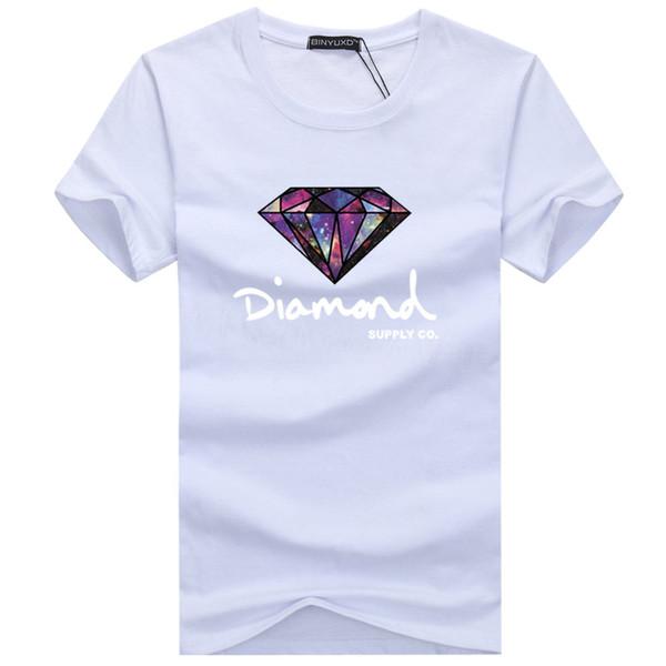 Diamond Supply Co Printed Man T Shirt Harajuku Casual Hip Hop Cotton Tees New Summer Mens T-shirt Extra Large Code