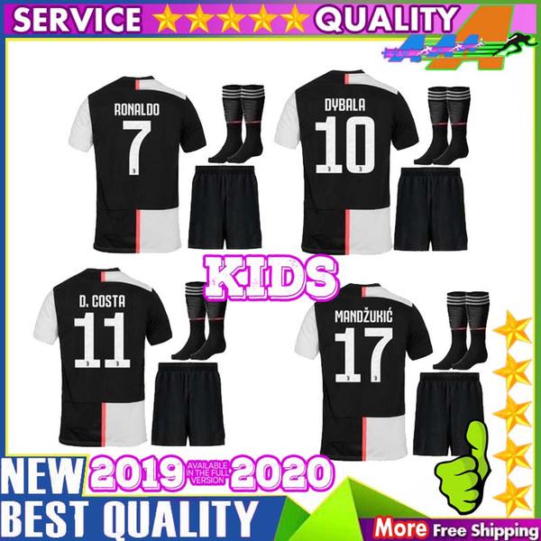 d2b957c9922ef Best quality kids kit 19 20 Juventus home away Soccer Jerseys 2019 2020  Juventus RONALDO Soccer