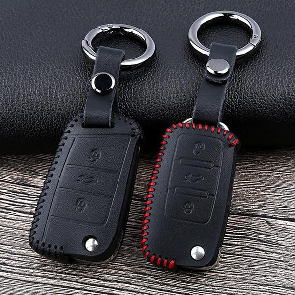 складной дистанционного ключа автомобиля чехол для Фольксваген Тигуан МК2 2017 2018 Magotan па водонепроницаемый чехол для ключа автомобиля, силиконовый чехол для ключа автомобиля