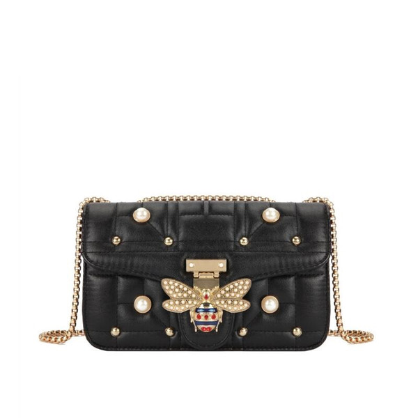 Bolsa Feminina 2019 Fashion New Fashion  Women's Little Bee Handbags Girl Chain Shoulder Bags Party Clutch Main A Sac Femme