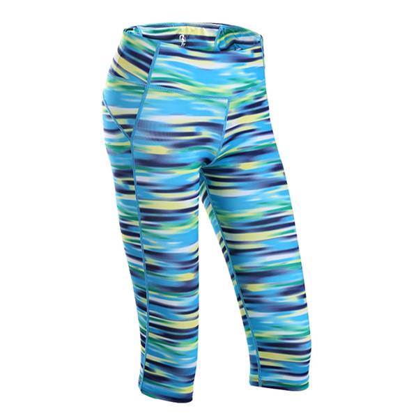 U Yoga Shorts Women Leggings Sports Women Fitness Capris Wide Waist Key Pocket Fitness Quick-drying Running Yoga Shorts Tights #262336