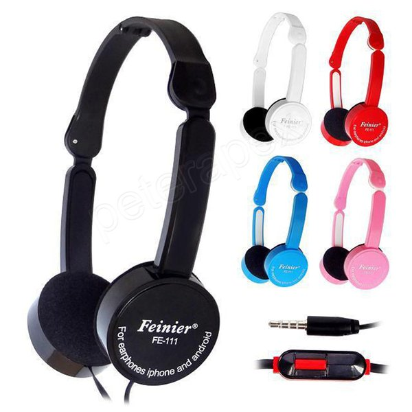 Foldable Portable Headphone Travel Game Headset 3.5mm Earphone With Microphone Wire Control For Phone Children Kid MP3 MP4 iPad DHL ship