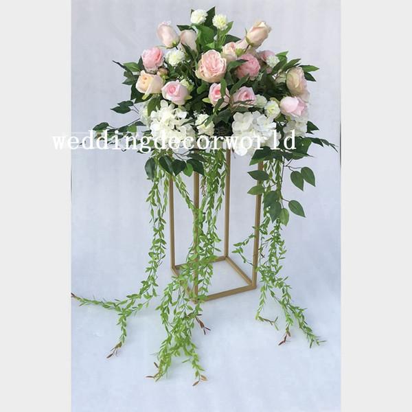 Compre Lo último Sin Flores Hecho A Mano Arreglos Florales De Boda Fiesta Banquete Decorativo Marfil Artificial Mesa Flor Decor578 A 2505 Del