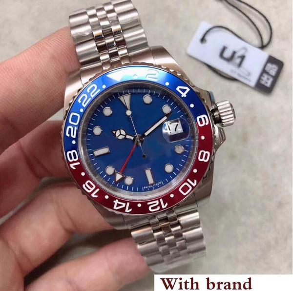 Роскошные часы с независимой регулировкой серии 126710 синий циферблат 40MM сапфировое стекло высокого качества автоматические механические юбилейные спортивные часы