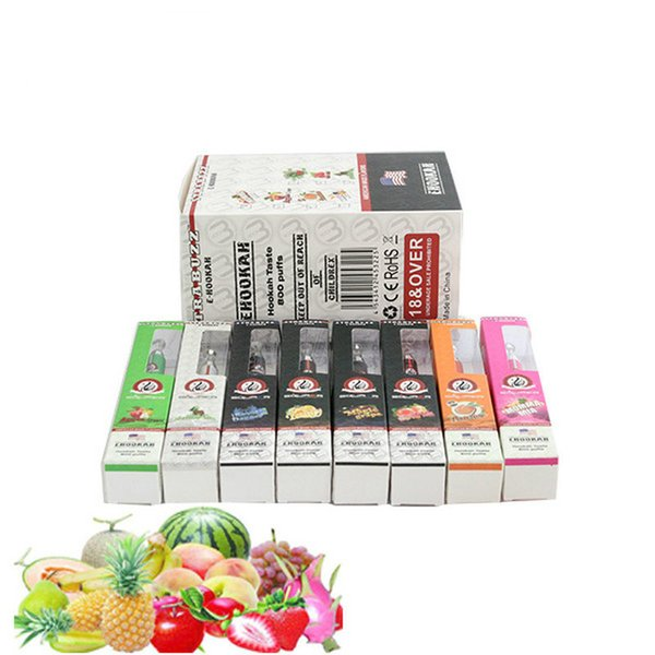 Top quality disposable e cigarette 800 puff square starbuzz e hookah vaporizer shisha time vape pen metal tip Ecig vape cartridges