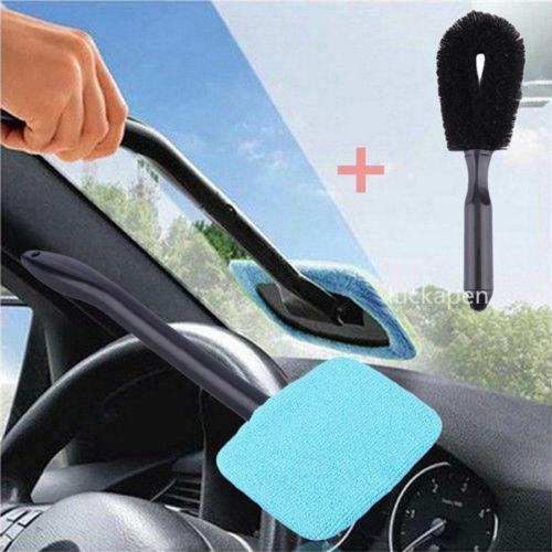 top popular 1pc Best Microfiber Long Handle Automobile Windshield Clean Car Wiper Cleaner Cloth Glass Window Tools Washable Car Care Brush 2021