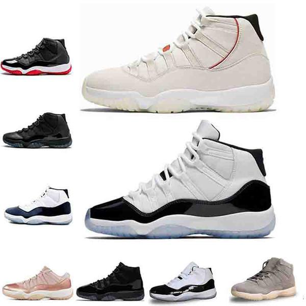 Concord 45 11 Мужская баскетбольная обувь 11s Платиновый оттенок CAP И GOWN BRED ЛЕГЕНДА СИНИЙ ЗАКРЫТИЕ мода роскошные мужские женские дизайнерские сандалии обувь