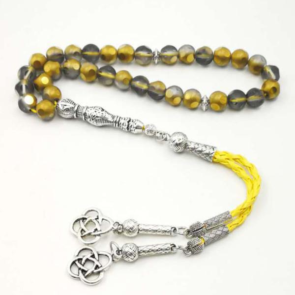 Golden tasbih Austria crystal 33 66 99 beads gift for Eid 8mm 10mm beads rosary Islam Bracelets Muslim prayer