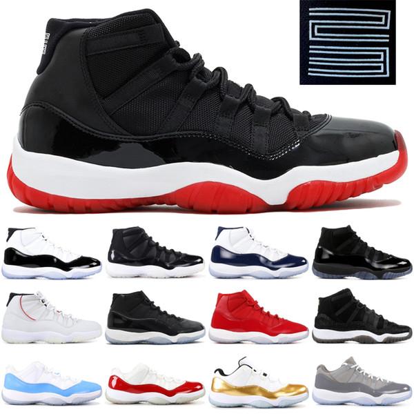 Space Jam Concord 45 Platin Ton XI Erkekler Kadınlar Tasarımcı Ayakkabı Spor Sneakers Boyut 5,5-13 Bred 11 11s Jampman Basketbol Ayakkabı