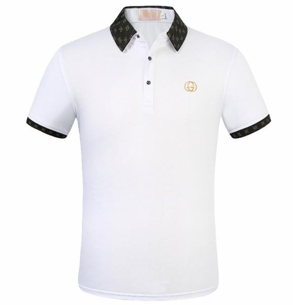 Yüksek Kaliteli Polos Marka Dekorasyon Erkek Polo Klasik Marka Polo Gömlek Altın Burcu Nakış Tasarım 100% Pamuk Iş Rahat Polo Giydirin