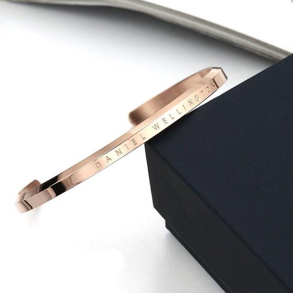Nouveau Mode Daniel Wellington Classique Hommes Femmes Bracelets De Haute Qualité Poli En Acier Inoxydable 316L Or Argent Bracelet Pour Les Amoureux