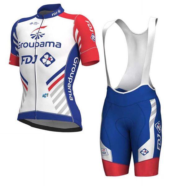 Fdj 2019 Ciclismo Jersey bib shorts Conjunto MTB Uniforme Bicicleta Vestuário Desgaste Da Bicicleta Ropa ciclismo Mens shorts Curtos conjuntos