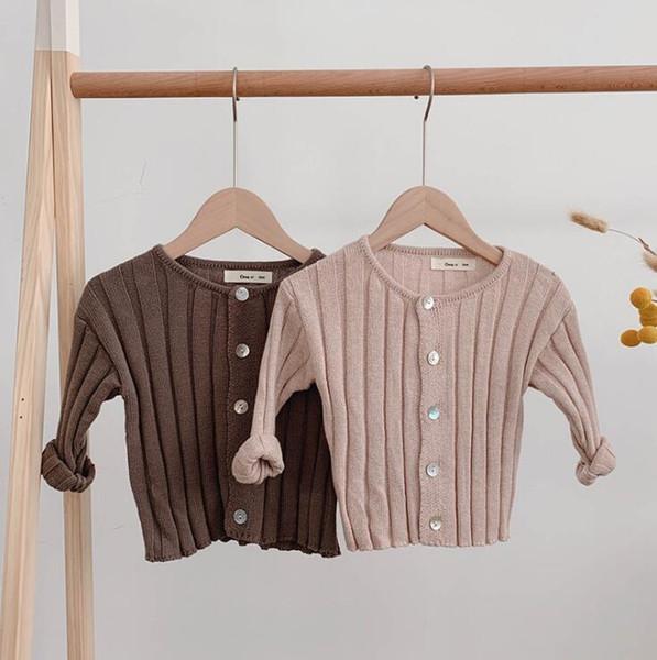 2019 vendita calda ragazze ragazzi maglione lavorato a maglia autunno bambino cardigan maglioni bambini vestiti 0-5 anni