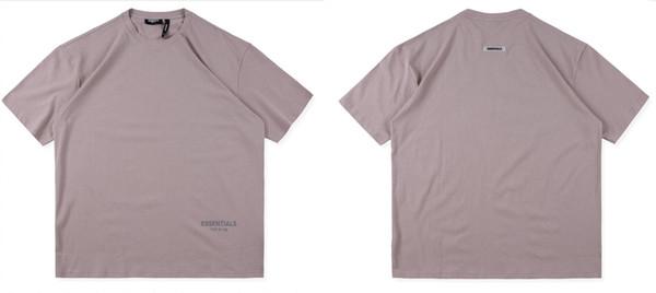 Туман основы ОС Мужские футболки дизайнер свободные шею мода страх Божий тройники с коротким рукавом мужские топы