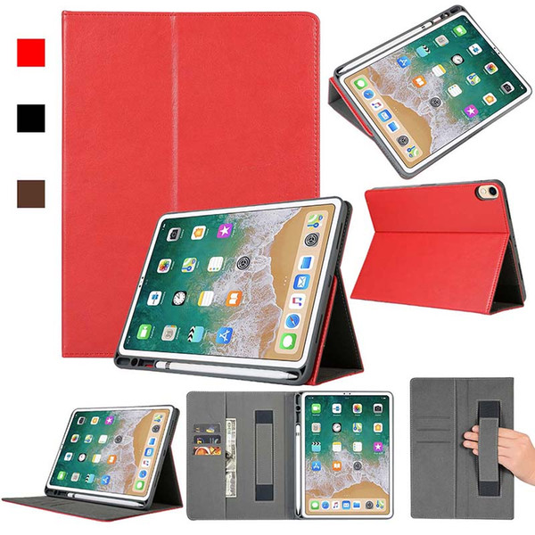 Luxury Imitation Leather Tablet Case For ipad pro 11 2018 With Folding Built-in pen slot Stand Dormancy Protective Shell