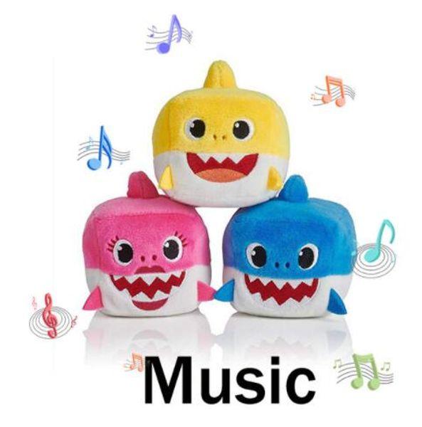 Baby Shark Toys With Music Cute Animal Plush Baby Toy Shark Dolls Singing Song For Gift Children Girl shark Plush toy 7cm KKA6629