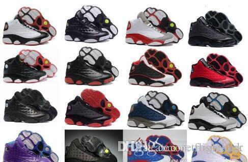 Toptan Yeni ucuz 13 XIII erkekler Basketbol Ayakkabı kadın Bred Donanma Oyunu Ev gri ayak Flint Gri Spor Sneakers Çizmeler boyutu 36-47