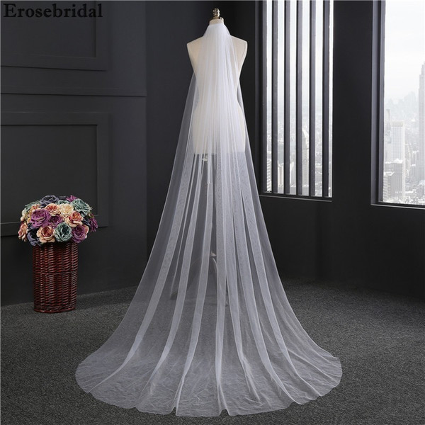 2018 New Bridal Veil 3m*1.5m Size White Ivory Wedding Veil With Comb In Stock 72 Hours Shipping C19041101
