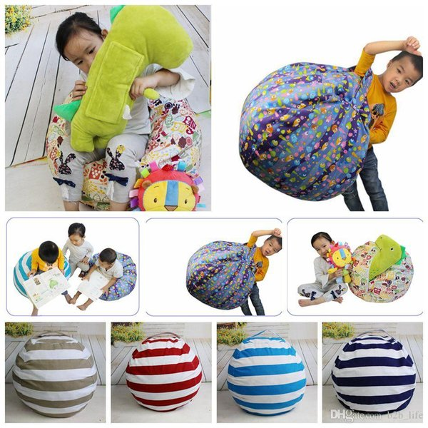 Storage Bean Bags Beanbag Chair Plush Toys Kids Bedroom Playing Mats Portable Couch Cushions Clothes Storage Tool 9 Colors 30pcs L-OOA4334