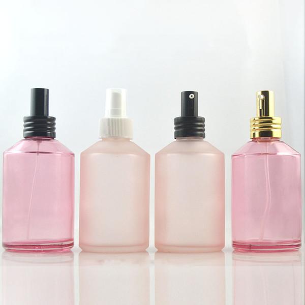 200ml Hellrosa Sprühflasche Milchglasflasche Nachfüllbares Shampoo Leeres Duschgel Fläschchen Emulsion Kosmetische Verpackung