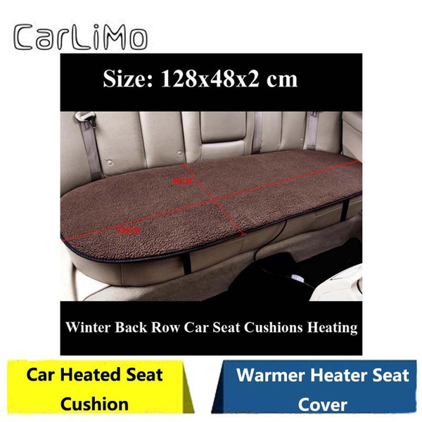 CarLiMo DC12V 45W Universal Warm-Keeping Winter Back Row Car Seat Cushions Heating Thermostat Truck Heated Seat 5 Color Optional