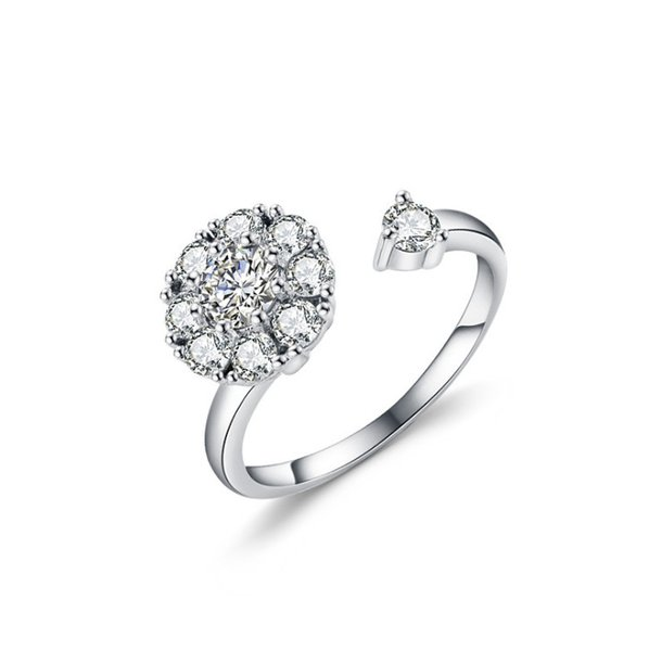 White Bridal Wedding Ring 925 Sterling Silver Jewelry Promise rhinestone Engagement Rings For Women 2019 New