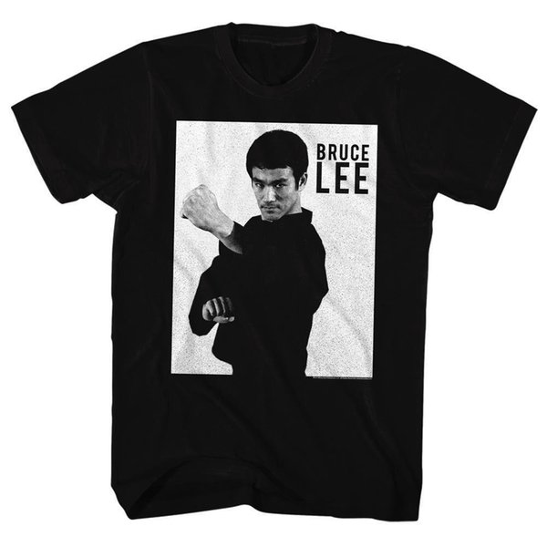 Bruce Lee Martial Art Licensed Adult T Shirt Sleeves Cotton T-Shirt Fashion Men T Shirt 2018 Summer 100% Cotton Simple Style