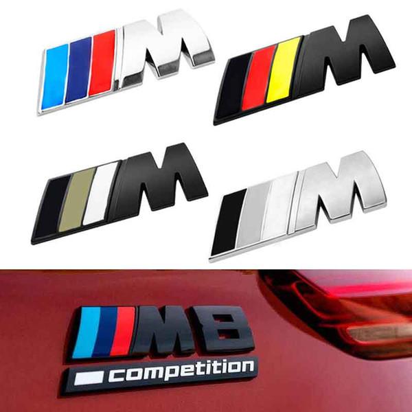top popular 8cm*3cm Large Car Sticker    M Power M Emblem Badge Decals 3D Stickers For BMW e36 e39 e46 e60 e87 e92 e30 f10 f20 2021