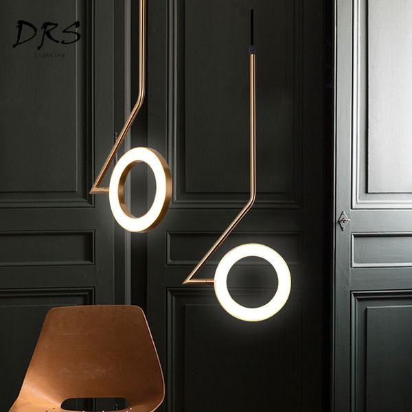 Großhandel JESS Nordic Pendelleuchte Schlafzimmer Nachttisch Restaurant  Kronleuchter Beleuchtung Moderne Luminaria Bar Messing Kreative LED  Designer ...