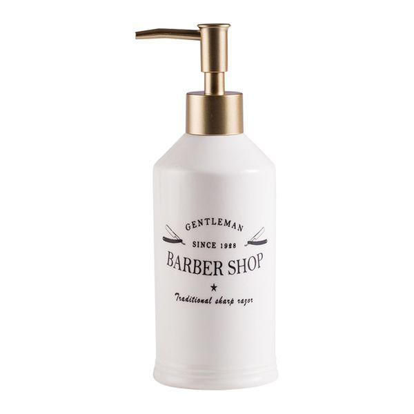 Fashion White Ceramic Le bain lotion Liquid Perfume Soap Dispenser Pump Bottle