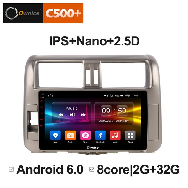 """9"""" 2.5D Nano IPS Screen Android Octa Core/4G LTE Car Media Player With GPS RDS Radio/Bluetooth For Toyota Prado 2010-2013 #5909"""