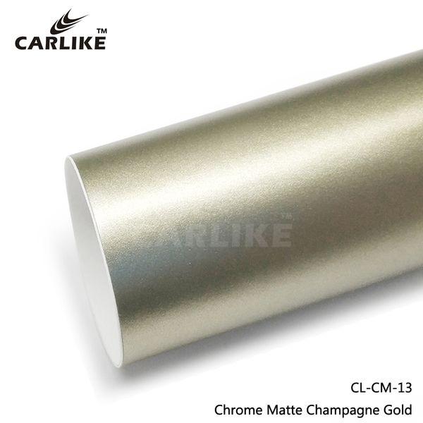 Venda Por Atacado Matt Chrome Ice Film matte Champagne Gold Car Cor Wrapping Vinyl Sticker