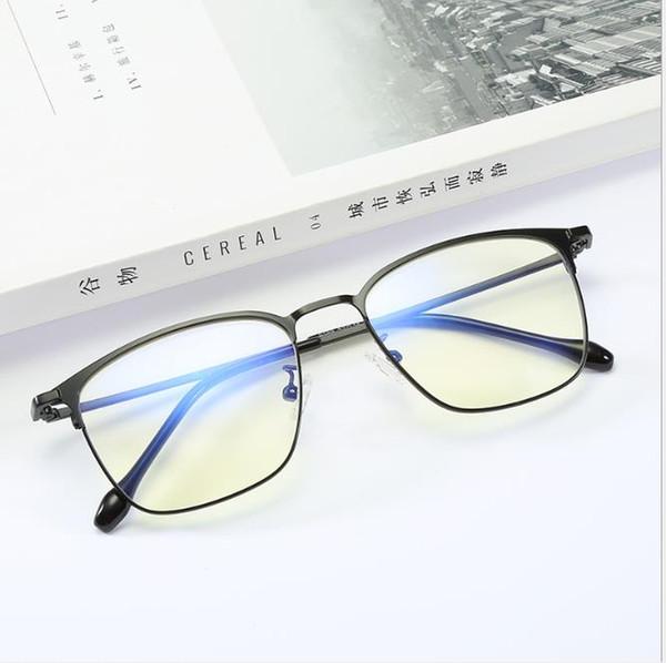 New Square Glass Frame Men's Retro Blue-ray Glasses Metal Myopia Frame