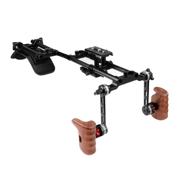 CAMVATE Pro Camcorder Shoulder Mount HDSLR Camera Support Rig With ARRI Rosette Handgrips C2089
