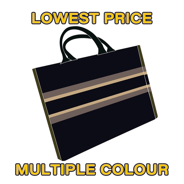 best selling 2020 top shopping bag tote bag fashion classic men and women wallet canvas handbag black blue yellow multicolor pattern woven shopping bag