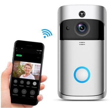 Sensor de Puerta nuevo Smart Home M3 cámara de video inalámbrico timbre de la puerta Anillo Wi-Fi del hogar del timbre de seguridad inteligente de supervisión remota de alarma